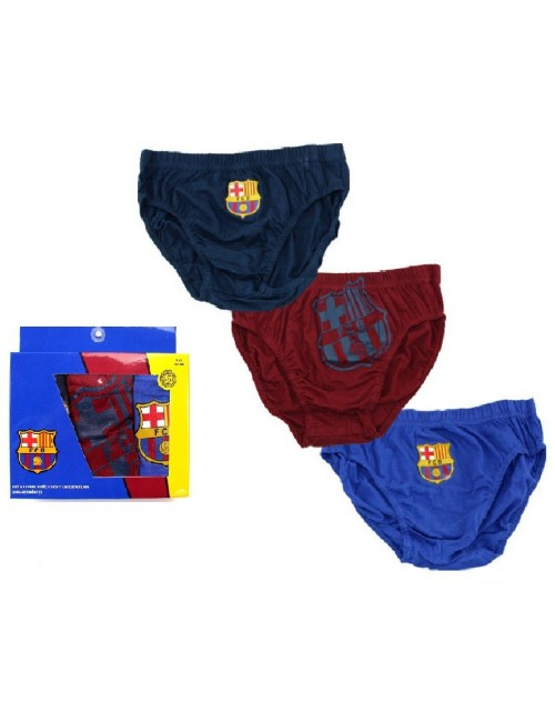 Set 3 perechi chiloti FC Barcelona 2-12 ani