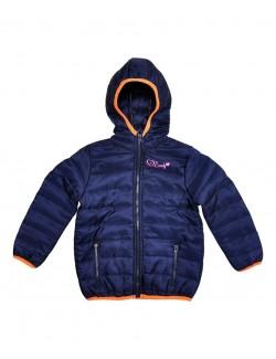Jachetă fâș copii, Cool & Young, bleumarin, 86 - 128 cm
