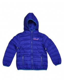 Jachetă fâș copii, albastra, 98 - 128 cm
