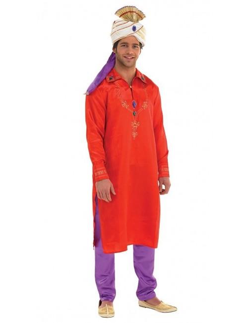 Costum Halloween barbati: Bolywood Man, rosu-mov