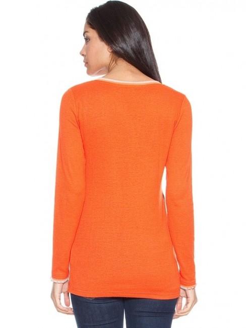 Bluza casual de dama, portocalie, M,L,XL