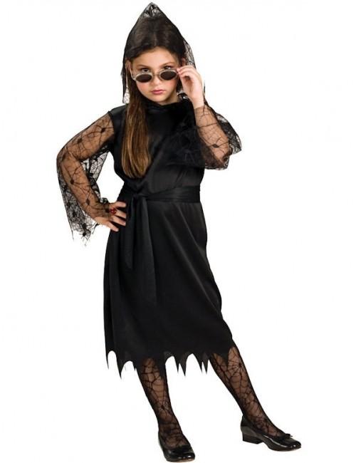 Costum Halloween copii: Rochie dantela Vampir
