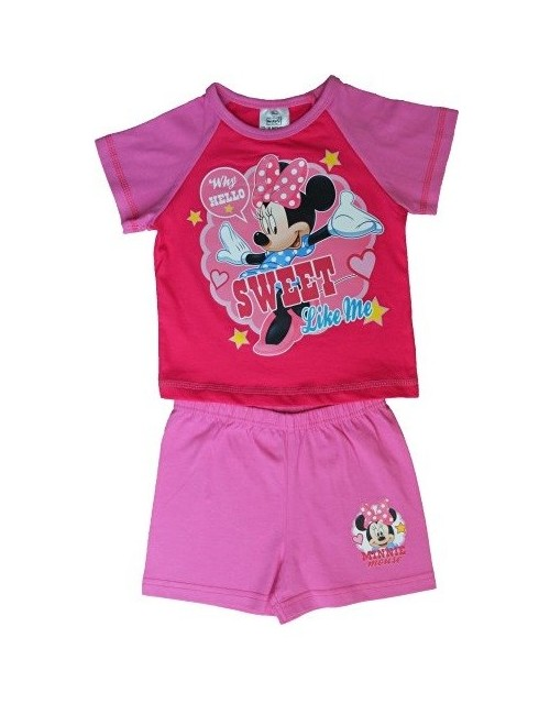 Pijama vara  Minnie Mouse Sweet, 12 luni - 4 ani