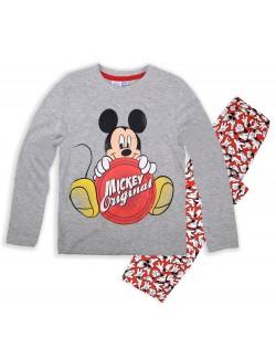 Pijama copii Mickey Mouse Original, 3 si 8 ani, rosu-gri