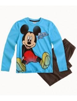 Pijama Mickey Mouse Original, bleu-gri, 3 - 8 ani