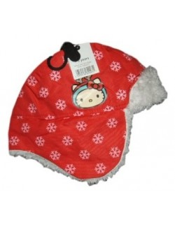 Căciulă iarnă copii, Hello Kitty, cu urechi imblănite, 1-6 ani