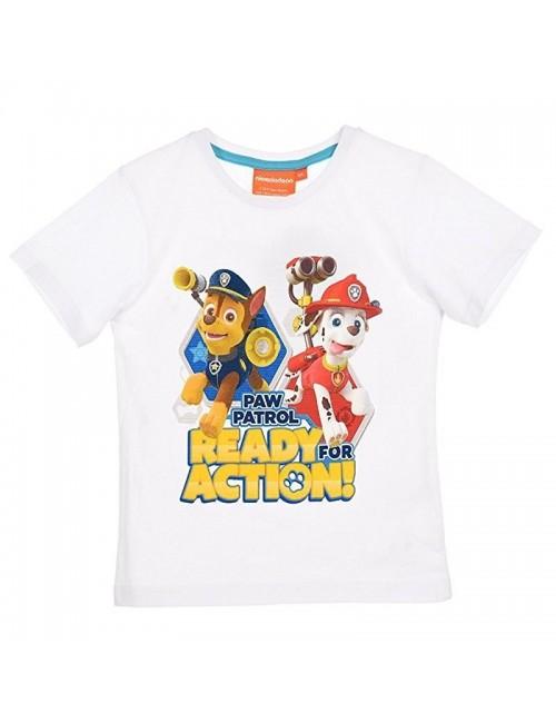 Tricou Paw Patrol copii, 3 - 6 ani, alb (EP1293)