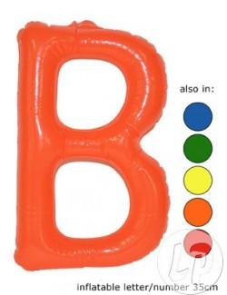 B - Litera gonflabila, 35 cm, rosu sau galben