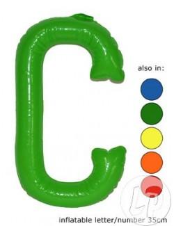 C - Litera gonflabila, 35 cm, rosu sau galben
