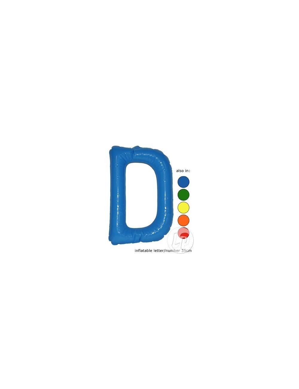 D - Litera gonflabila, 35 cm, diverse culori