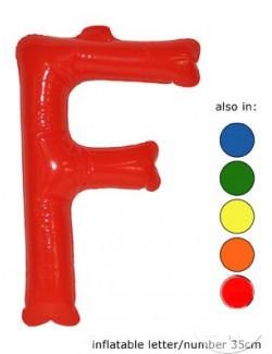 F - Litere gonflabile, 35 cm, diverse culori