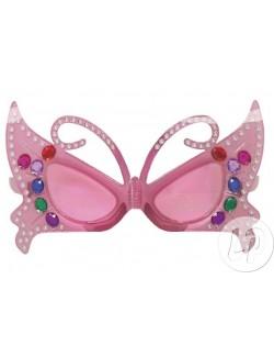 Ochelari Fantezie, de soare/ party: Fluture Roz, copii
