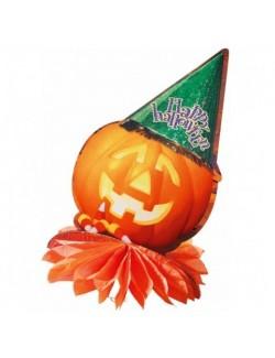 Decoratiune Dovleac pentru masa de Halloween, 33 cm