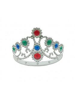 Coroana argintie Regina - accesoriu carnaval