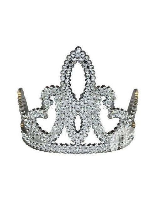 Diadema argintie Printesa - accesoriu carnaval