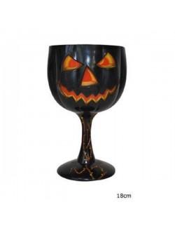 Pahar cu picior Halloween cu Dovleac Jack-o'-Lantern