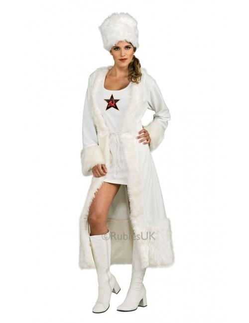 Costum carnaval femei: Rusoaica Rubies Deluxe, alb