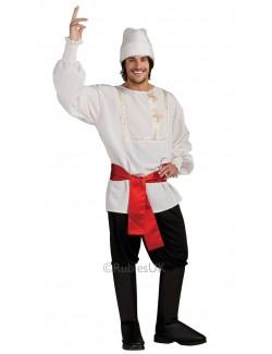 Costum carnaval barbati: Rus Rubies Deluxe, alb