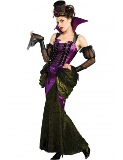 Costum Halloween femei: Vampir Victorian, S, L