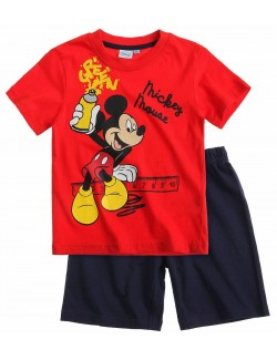 Pijama vara Mickey Mouse (Green), 6-8 ani