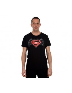 Tricou Batman vs. Superman barbati (logo rosu)