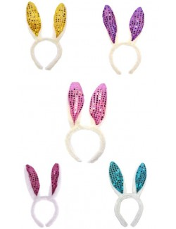 Urechi pufoase cu paiete pentru costum iepuras