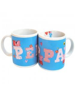 Cana ceramica Peppa Pig, albastra