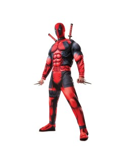 Costum adulti Deadpool cu muschi, Rubies