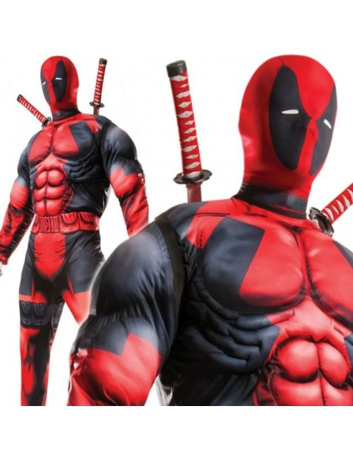 Costum adulti  Deadpool cu muschi, Rubies