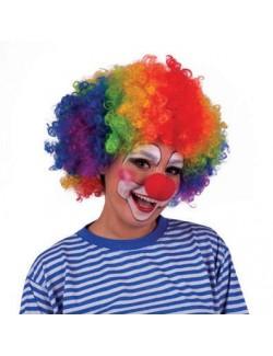 Peruca afro multicolora clown