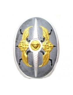 Scut din plastic, cu aripi aurii, 60 x 40 cm