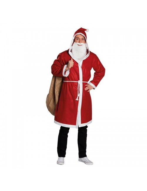 Costum Mos Craciun adulti: Haina cu gluga Rubies