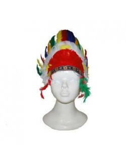 Coif Indian, din pene multicolore