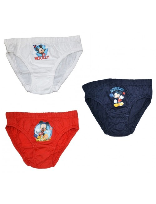 Set 3 perechi chiloti copii Mickey Mouse