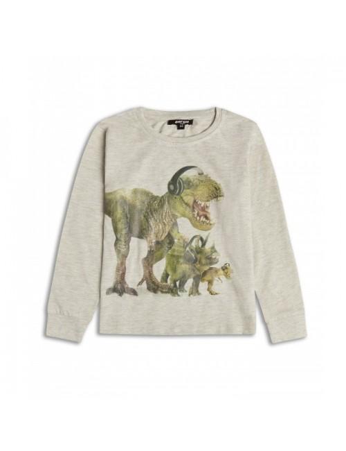 Bluza copii, Dinozauri DJ, culoare bej, 2 - 8 ani