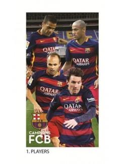 Prosop fața F.C. Barcelona (fotbalisti FCB) 35 x 65 cm