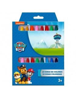 Set 18 creioane colorate, cerate, Paw Patrol