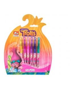Set 6 pixuri cu gel, Trolls (Trolii)