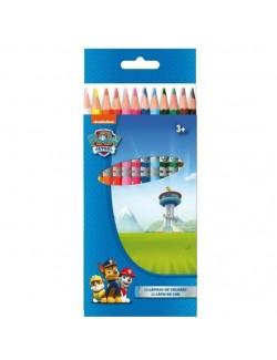 Set 12 creioane colorate, Paw Patrol