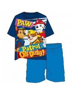 Pijama vara Paw Patrol, baieti 5 ani, albastra