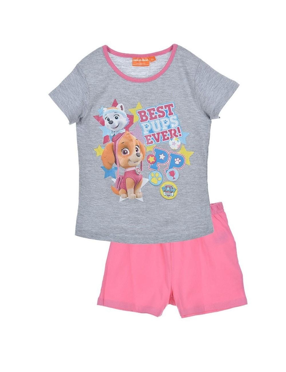 previzualizare a comercializează oferta specifica Pijama vara 3-6 ani, Paw Patrol, gri-roz