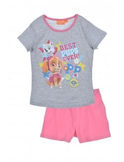Pijama vara 3-6 ani, Paw Patrol, gri-roz
