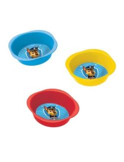 Bol din plastic Paw Patrol, rosu, galben sau bleu - 14 cm