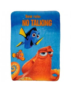 "Pătură Disney Finding Dory ""No talking!"", 100x140 cm"