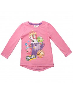 Bluza Shopkins roz, fete 3 - 8 ani