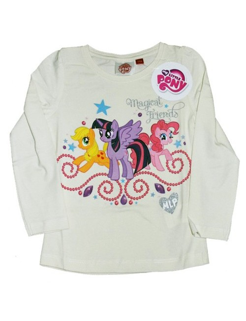 Bluza My Little Pony, crem, 3 - 8 ani