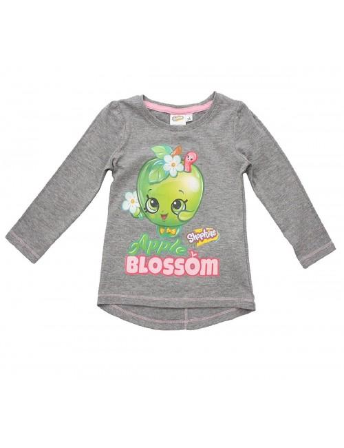 Bluza Shopkins Apple Blossom, gri, 3 -8 ani
