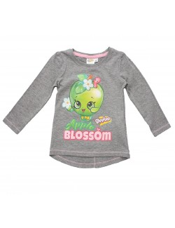 Bluza Shopkins Apple Blossom, gri, 3 -8 ani
