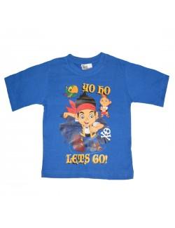 Tricou Jake si Piratii, baieti 2-5 ani, albastru