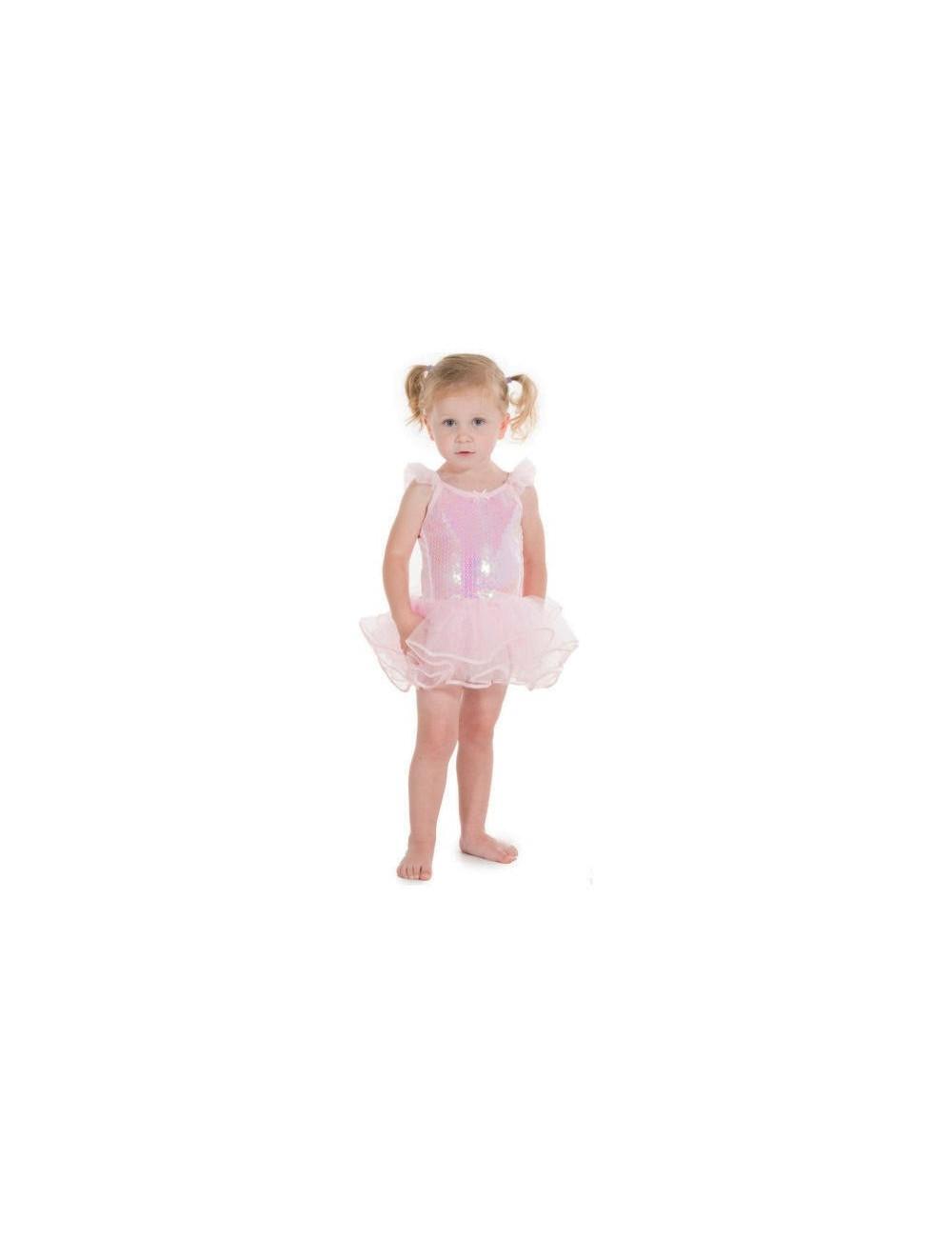 Costum roz balerina 3 - 8 ani, cu paiete